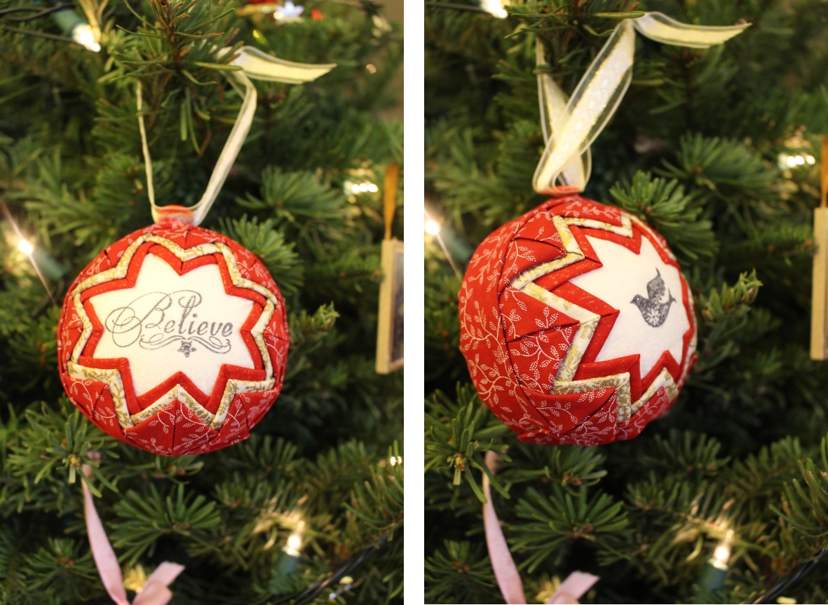 Finished Ornament Front and Back
