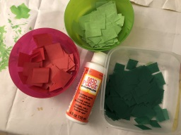 Tissue Paper Squares and Mod Podge